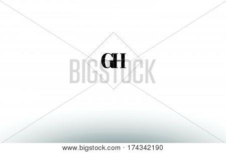 Gg G G  Retro Vintage Black White Alphabet Letter Logo