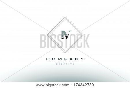 Iv I V  Retro Vintage Black White Alphabet Letter Logo
