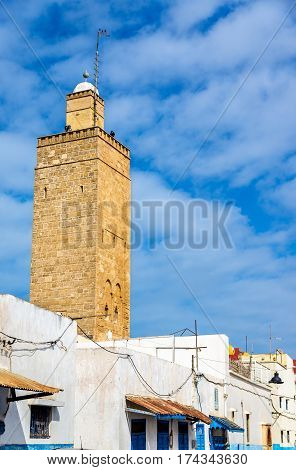 Tower in Kasbah of the Udayas at Rabat, Morocco