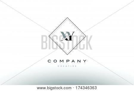 Xy X Y  Retro Vintage Black White Alphabet Letter Logo