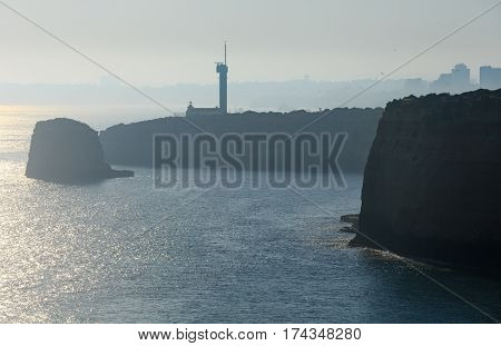 The Lighthouse Of Ponta Do Altar (lagoa, Portugal).