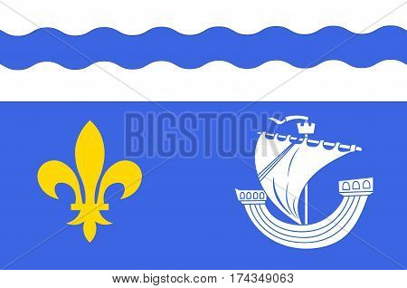 Flag of Hauts-de-Seine is a French department named after the Seine and Marne rivers and located in the Ile-de-France region