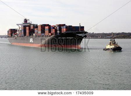 Container Ship Apl New Jersey