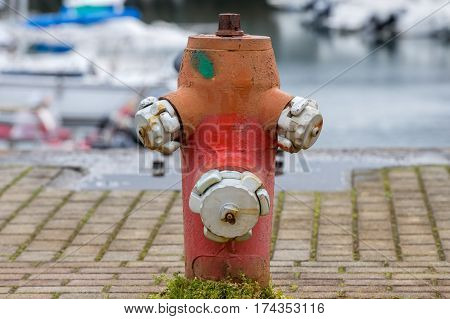 image of a view of the street hydrant close-up