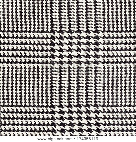 Fabric texture, tartan pattern. For natural backdrop, banner, print, template, web, decoration. White and black. For background , backdrop substrate composition use With place for your text