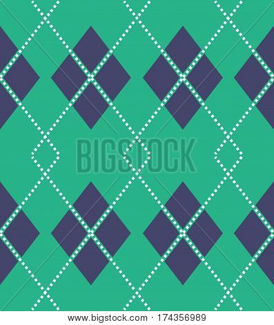 Scalable vectorial image representing a seamless argyle pattern.