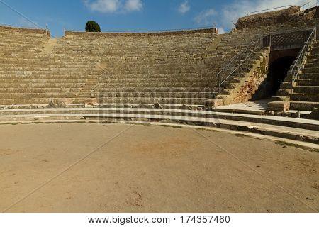 Roman Amphitheatre At Ostia Antica Italy