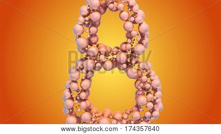 8 March symbol. Figure of eight made of spheres flying in the space. Can be used as a decorative greeting grungy or postcard for international Woman's Day. 3d illustration.