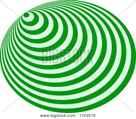 Op Art Bullseye Excentric Pale Green Deep Green
