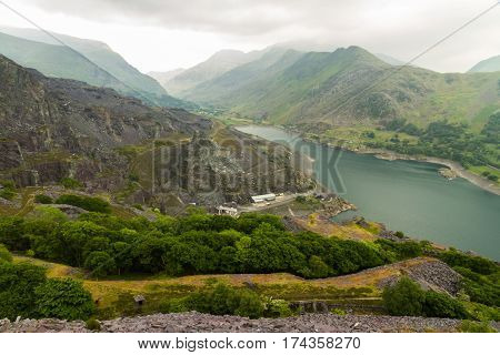 Llanberis, Nant Peris Pass And Dinorwig Slate Quarry