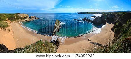 Morning Sandy Mexota Beach (asturias, Spain).