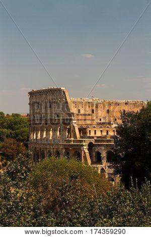 The Colosseum or Coliseum Roman Amphitheater in Rome