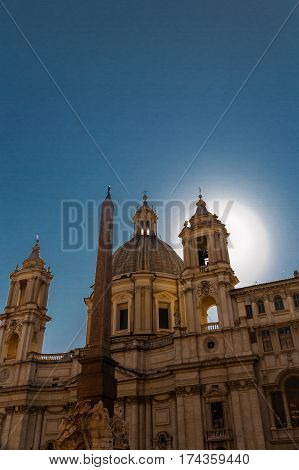 Sant Agnese In Agone In The Piazza Navona