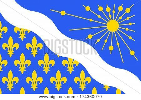 Flag of Essonne is a French department in the Ile-de-France region