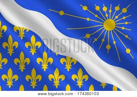 Flag of Essonne is a French department in the Ile-de-France region. 3d illustration