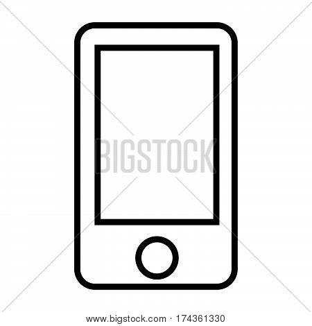 a simple thin line handphone icon vector