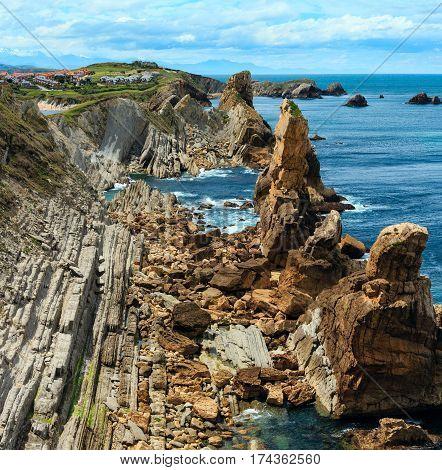 Atlantic Ocean Coastline Landscape.