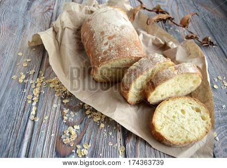 Chabatta is the Italian white, porous loaf produced from wheat flour and yeast
