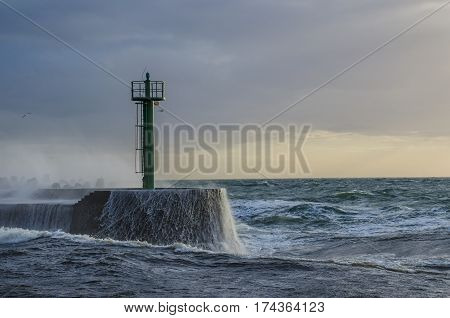 THE STORM - Stormy weather on the sea coast in Darlowo