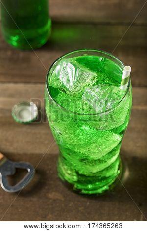 Refreshing Green Lime Soda Pop