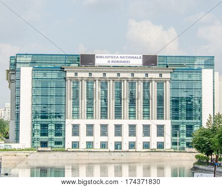 Bucharest, Romania - May 25, 2014: The National Library Of Romania