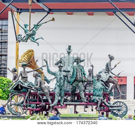 Bucharest, Romania - May 25, 2014: The Group Of Statues Called