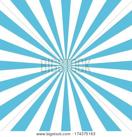 Blue sun rays background. Blue white rays poster