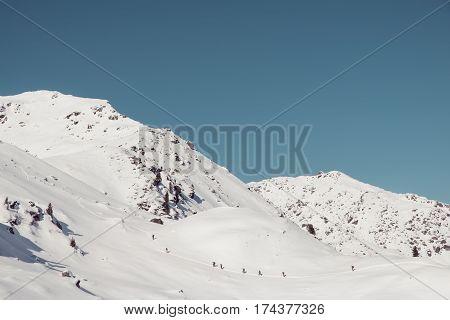 ski tour to schafsiedel near bamberger huette