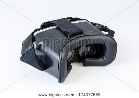 Virtual Reality Simulator Glasses For Smartphone On White