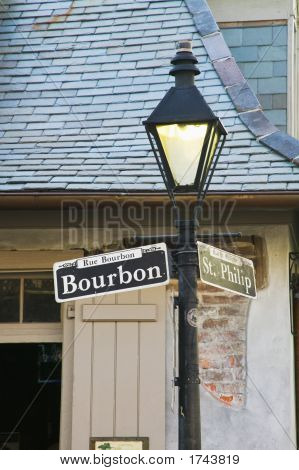Bourbon Street Zeichen