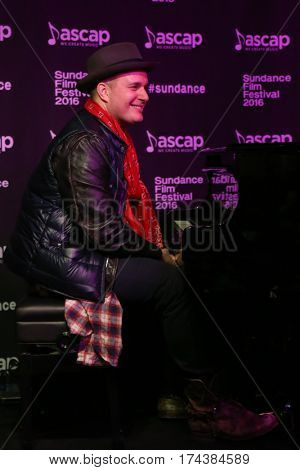 PARK CITY, UTAH-JAN 23: Composer J. Ralph performs onstage at the Sundance ASCAP Music Cafe during the 2016 Sundance Film Festival - Day 3 on January 23, 2016 in Park City, Utah.