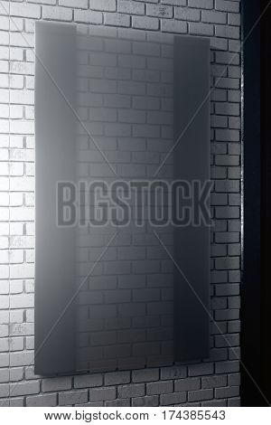 Vertical Black Glass Plate