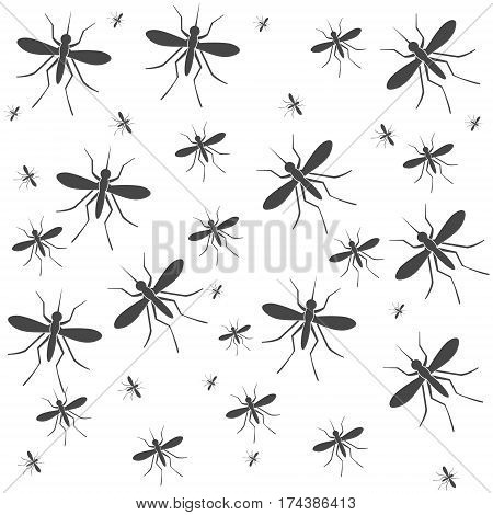 Simple Vector Mosquito background, Mosquito on white background