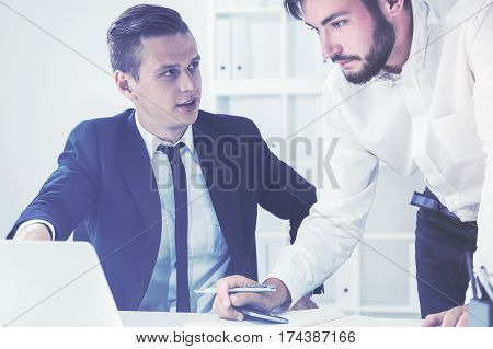 Young Boss Is Scolding His Subbordinate