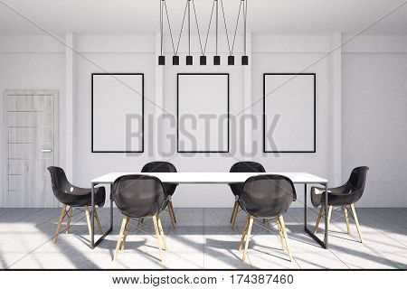 Office Meeting Room Interior With Posters