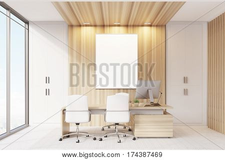 Elegant Ceo Room Interior, Poster