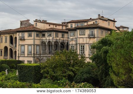 Italy Lucca - September 18 2016: the view of Palazzo Pfanner on September 18 2016 in Lucca Tuscany Italy.