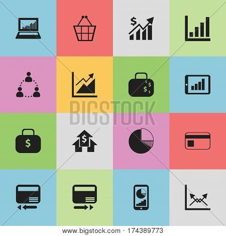 Set Of 16 Editable Analytics Icons. Includes Symbols Such As Schema, Equalizer Display, Statistic And More. Can Be Used For Web, Mobile, UI And Infographic Design.