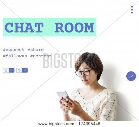 Social Chat Share Online Communication Graphic