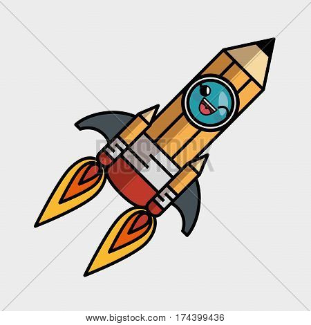 rocket launcher character isolated icon vector illustration design