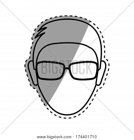 Faceless man head icon vector illustration graphic design
