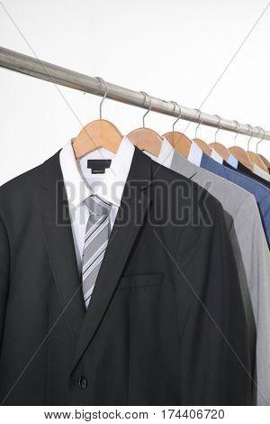 men's suits hanging