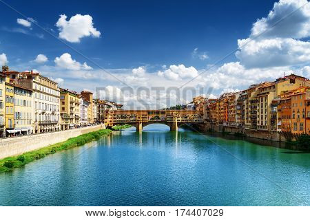 View Of The Ponte Vecchio And The Arno River, Florence, Italy