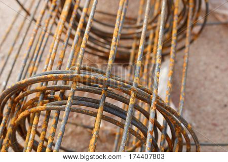 Roll of reinforcing Steel Bar, Rebar for concrete construction work