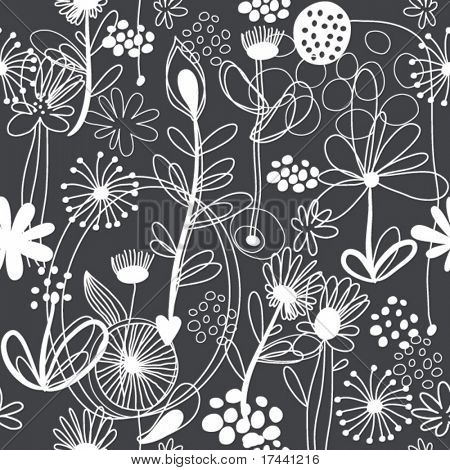 black-and-white floral pattern