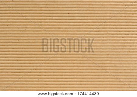A corrugated cardboard texture as a background