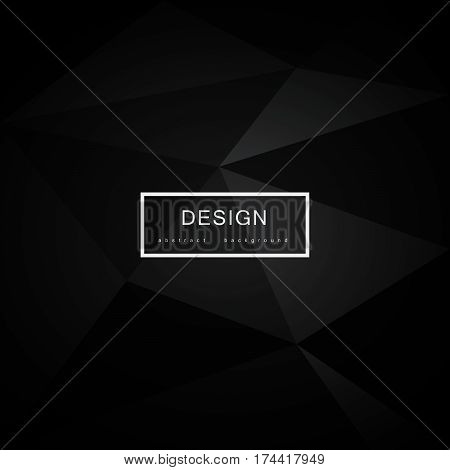 Abstract black background with triangles. Can be used in cover design, book design, website background, CD cover, advertising.