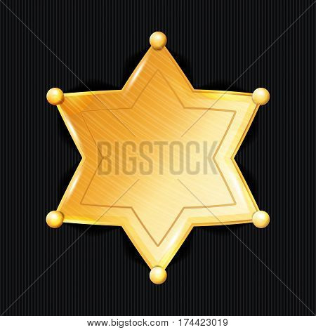 Sheriff Badge Star Vector. Classic. Municipal City Law Enforcement Department.