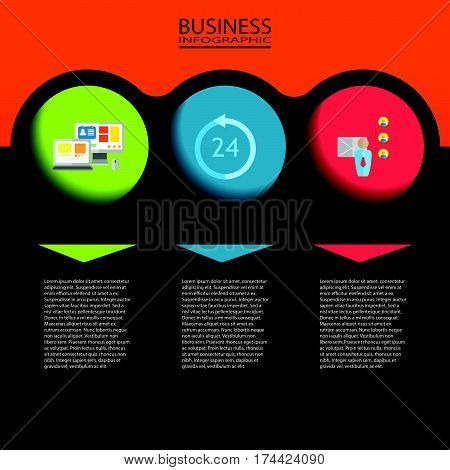 Abstract 3D digital infographic. Vector infographic can be used for layout. Infographic for web. Infographic for template. Infographic for brochure and business. Infographic business design. Infographic number and diagram. Infographic illustration. Infogr