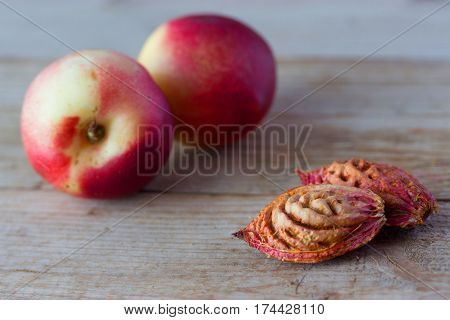 Ripe Peaches And Pips